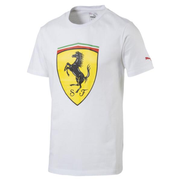 Ferrari Herren Big Shield T-Shirt, Puma White, large