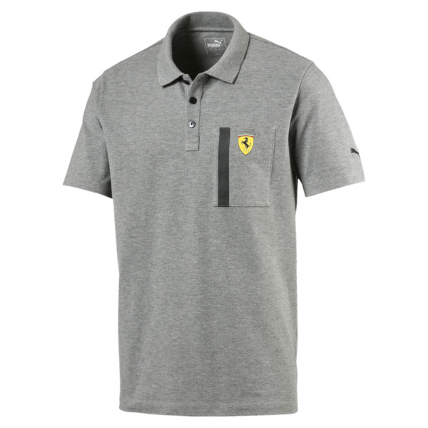Ferrari Polo Shirt, Medium Gray Heather, large