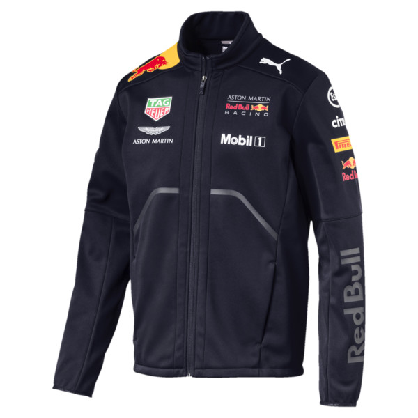 Red Bull Racing Men's Team Softshell, NIGHT SKY, large