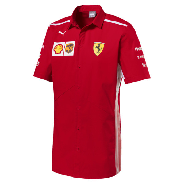 Scuderia Ferrari Men's Team Shirt, Rosso Corsa, large