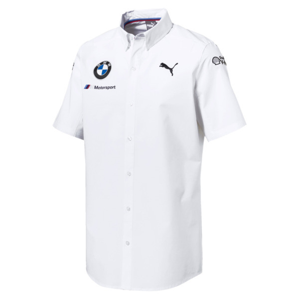 BMW M Motorsport Men's Team Shirt, Puma White, large