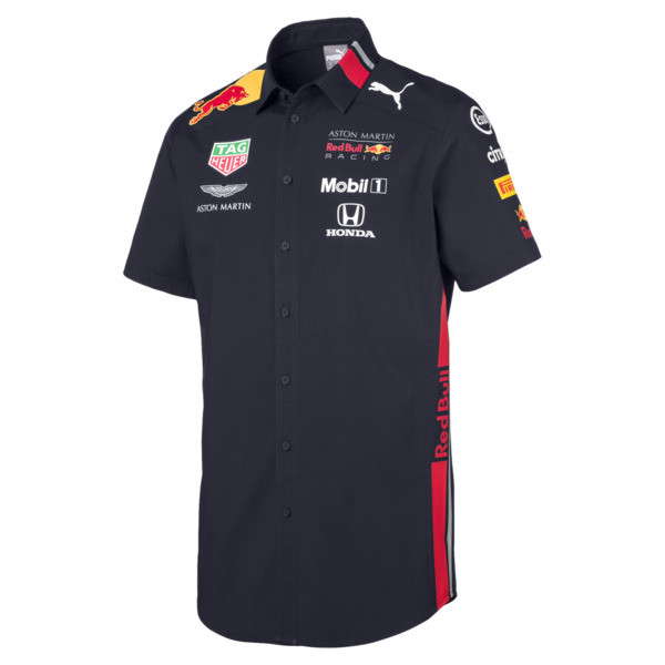 Red Bull Racing Men's Team Shirt, NIGHT SKY, large