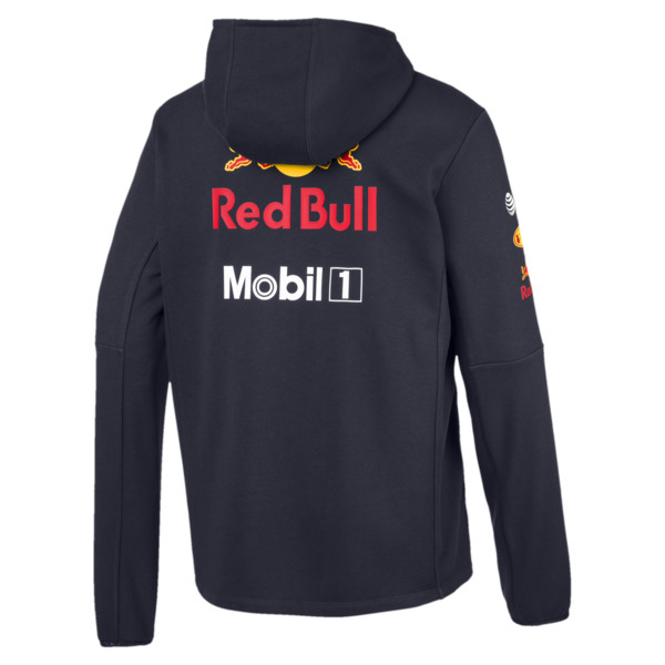Red Bull Racing Team Hooded Men's Sweat Jacket, NIGHT SKY, large