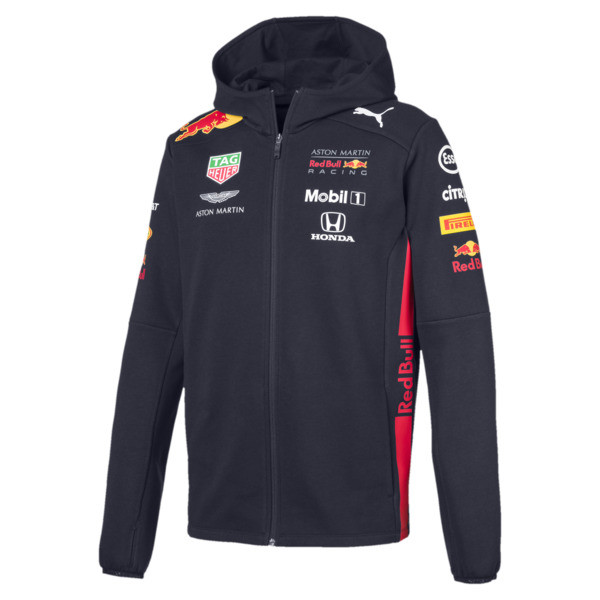 Red Bull Racing Men's Hooded Sweat Jacket, NIGHT SKY, large
