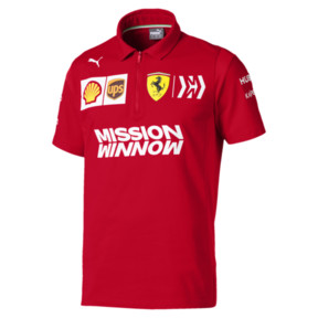 Thumbnail 1 of Ferrari Team Short Sleeve Men's Polo Shirt, Rosso Corsa, medium