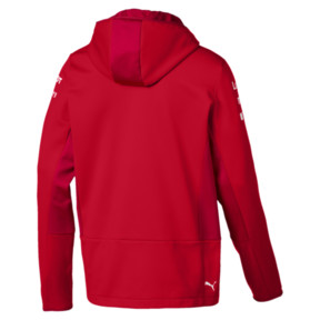 Thumbnail 2 of Ferrari Team Tech Fleece Hooded Men's Jacket, Rosso Corsa, medium
