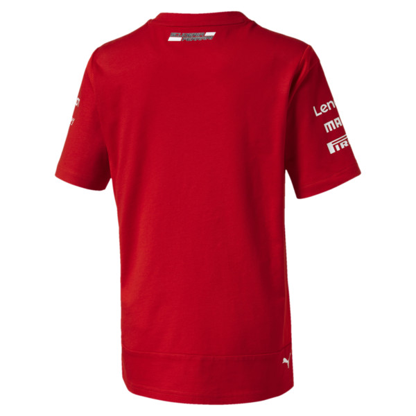 Scuderia Ferrari Boys' Team Tee JR, Rosso Corsa, large
