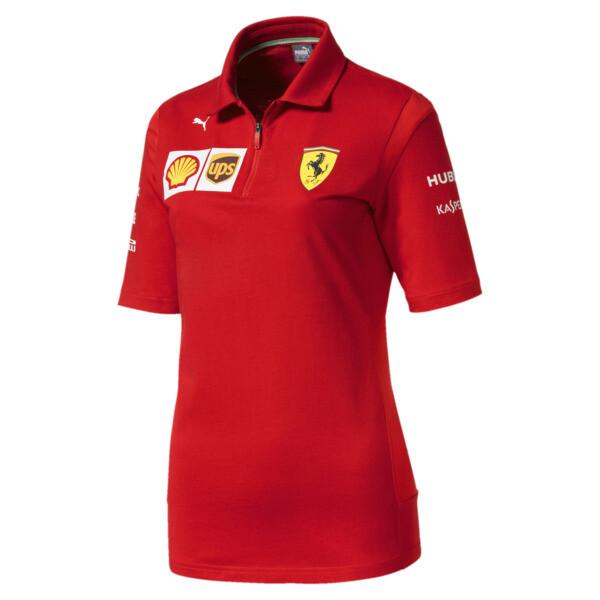 Ferrari Team Women's Polo, Rosso Corsa, large
