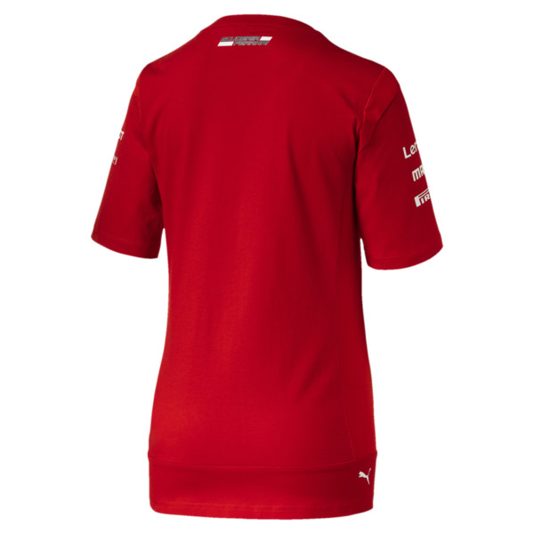 Ferrari Team Damen T-Shirt, Rosso Corsa, large