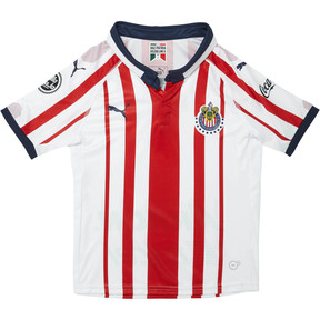 Thumbnail 1 of 2018/19 Chivas Kids' Home Replica Jersey, P White-P Red-P New Navy, medium