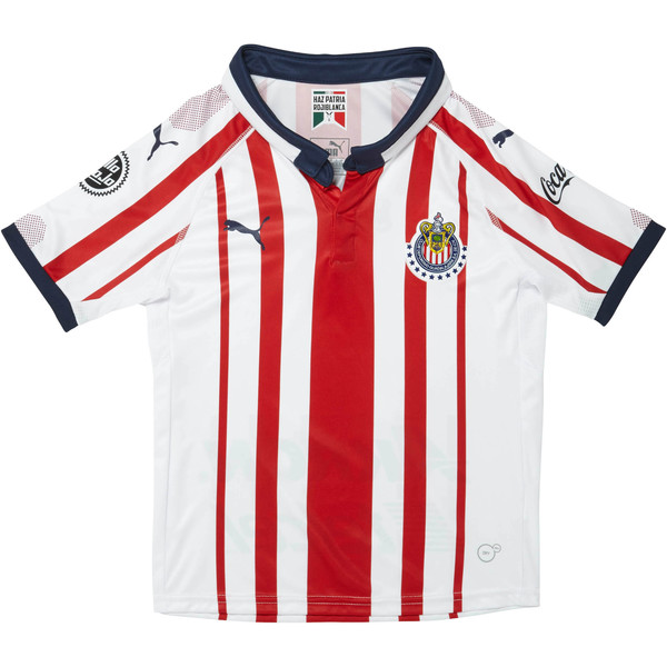 2018/19 Chivas Kids' Home Replica Jersey, P White-P Red-P New Navy, large