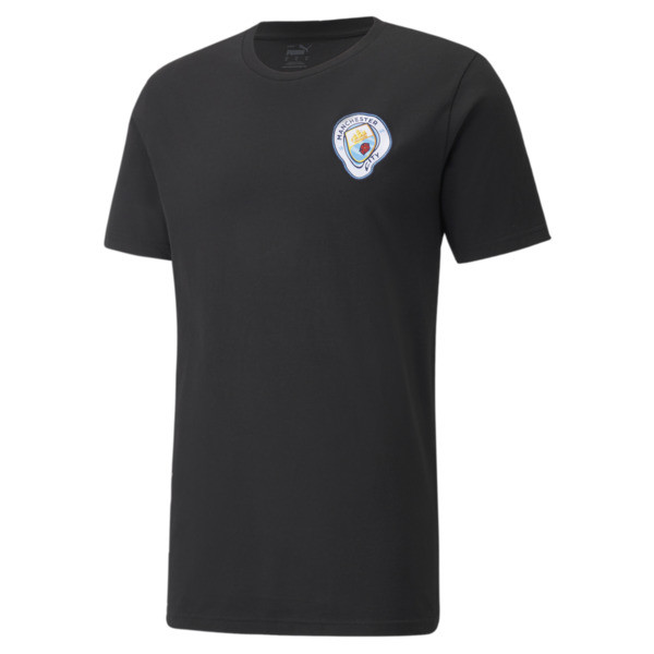 Puma Manchester City X Mdcr Graphic Men's Soccer T-Shirt In Black, Size Xs