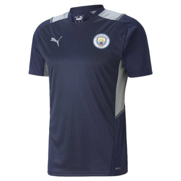 puma manchester city training men's jersey in quarry grey, size s