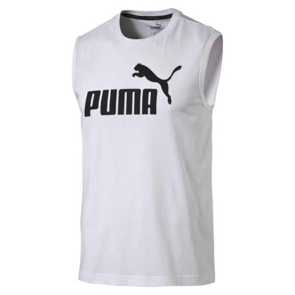 Men's No.1 Logo Sleeveless Shirt, Puma White, large