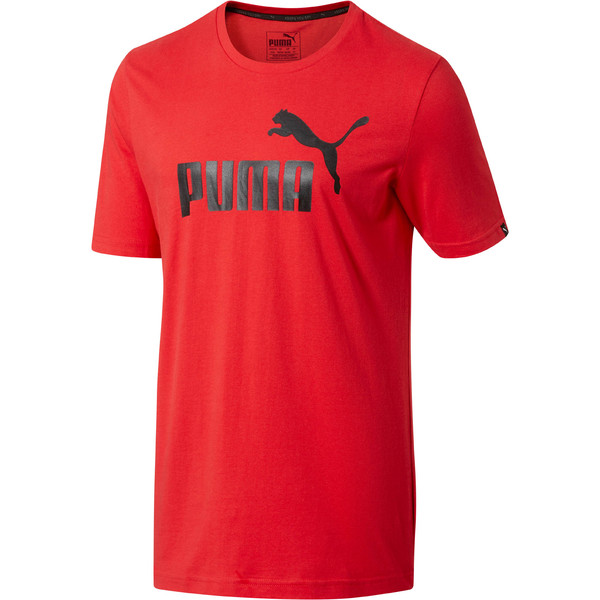 No.1 Logo Men's T-Shirt, Ribbon Red, large