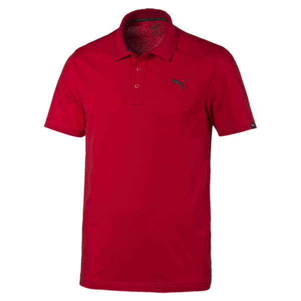 Essential Men's Jersey Polo, Barbados Cherry, large