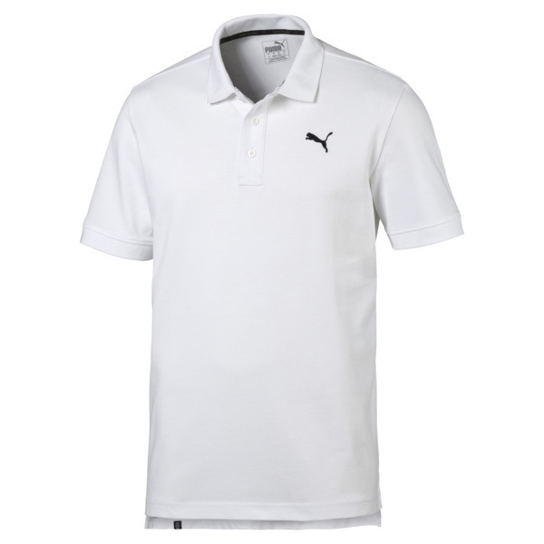 Men's Piqué Polo, Puma White, large