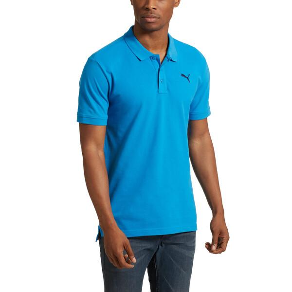 Men's Piqué Polo, BRILLIANT BLUE, large