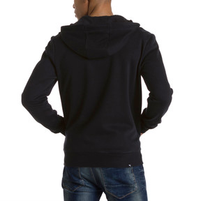 Thumbnail 3 of Style Men's Full Zip Fleece Hoodie, Cotton Black, medium