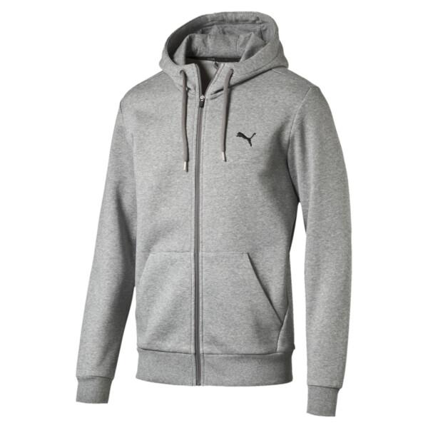 Style Men's Full Zip Fleece Hoodie, Medium Gray Heather, large