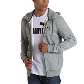 Thumbnail 2 of Style Men's Full Zip Fleece Hoodie, Medium Gray Heather, medium