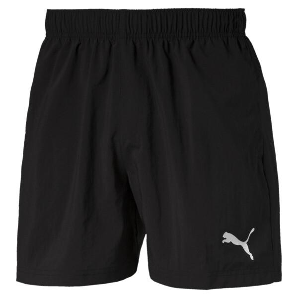 Active short van geweven materiaal voor mannen, Puma Black, large