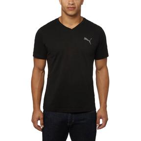 Thumbnail 2 of Iconic V-Neck T-Shirt, Puma Black, medium