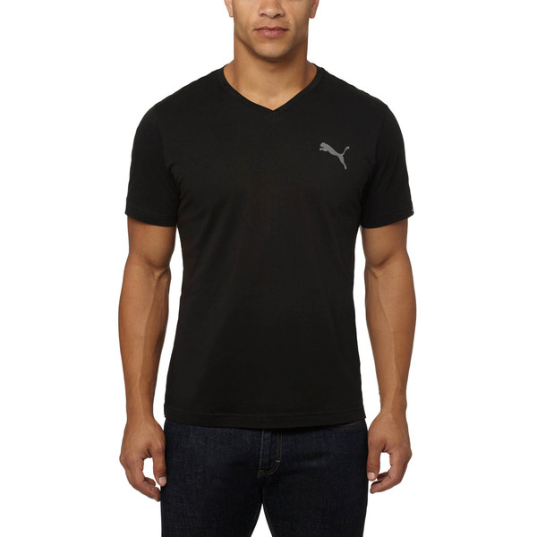 Iconic V-Neck T-Shirt, Puma Black, large