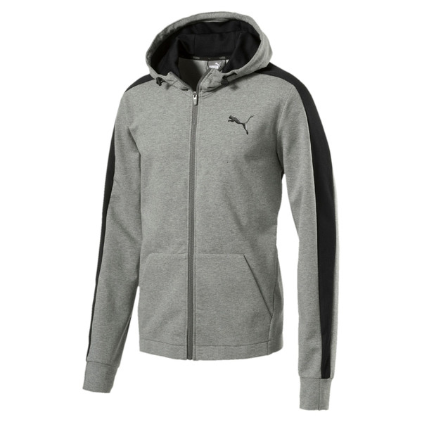 StretchLite Zip-Up Hoodie, Medium Gray Heather, large