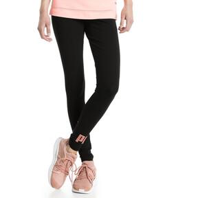 Thumbnail 2 of Style No.1 Logo Women's Leggings, Puma Black-copper, medium
