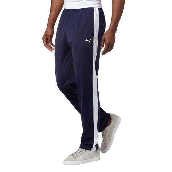 Contrast Open Pants, Peacoat-Puma White, large