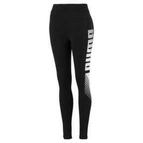 Thumbnail 1 of Essentials+ Graphic Women's Leggings, Puma Black, medium