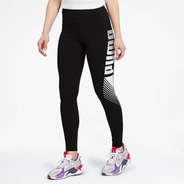 Essential Graphic Women's Leggings, Puma Black, large