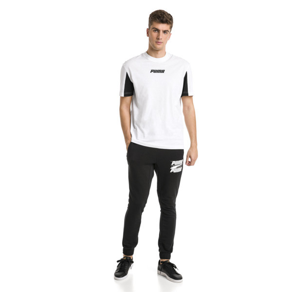 Rebeld Bold sweatpants voor mannen, Cotton Black, large