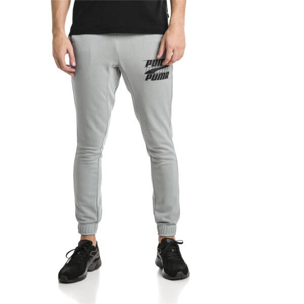 Rebeld Bold sweatpants voor mannen, Kalksteengrijs, large