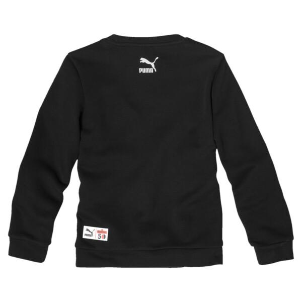 PUMA x SESAME STREET Boy's Crewneck Sweatshirt, Cotton Black, large