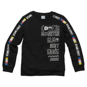 Thumbnail 1 of PUMA x SESAME STREET Boy's Crewneck Sweatshirt, Cotton Black, medium