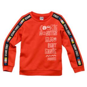 Thumbnail 1 of PUMA x SESAME STREET Boy's Crewneck Sweatshirt, Cherry Tomato, medium