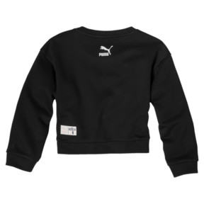 Thumbnail 2 of Sesame Girls' Crew Sweatshirt, Cotton Black, medium