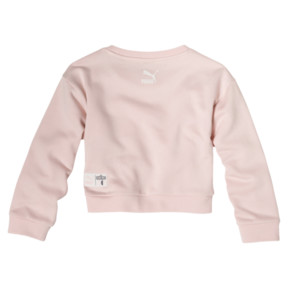 Thumbnail 2 of PUMA x SESAME STREET Girl's Crewneck Sweatshirt, Veiled Rose, medium