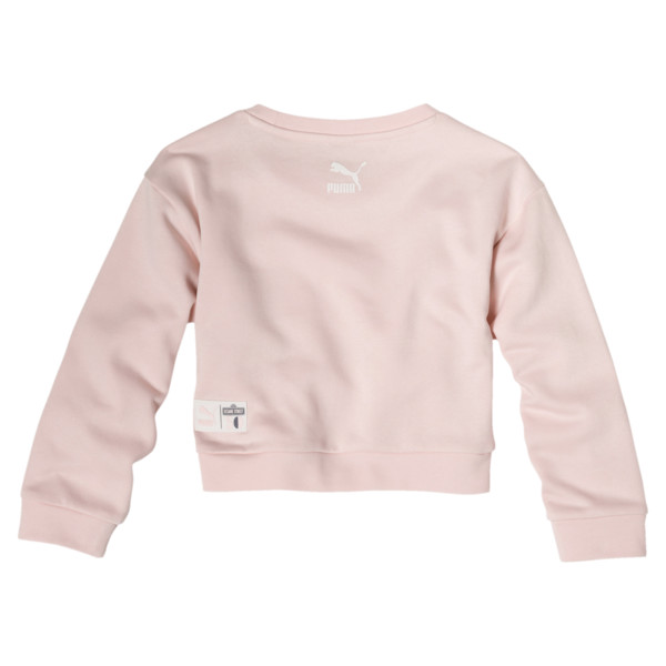 PUMA x SESAME STREET Girl's Crewneck Sweatshirt, Veiled Rose, large
