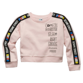 Thumbnail 1 of PUMA x SESAME STREET Girl's Crewneck Sweatshirt, Veiled Rose, medium