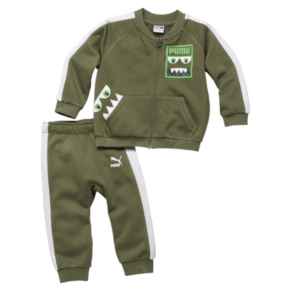 Babies' Monsters Track Suit, Olivine, large