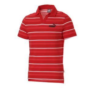 ESS+ ストライプ オープンポロシャツ