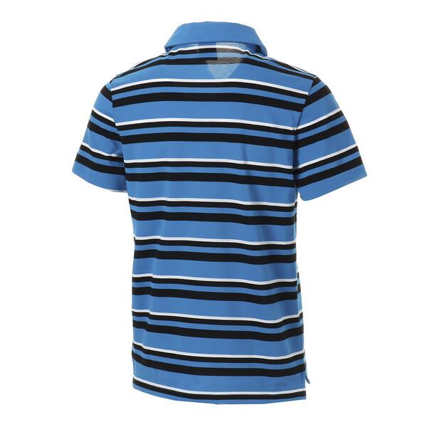 ESS+ ストライプ オープンポロシャツ (半袖), Indigo Bunting, large-JPN