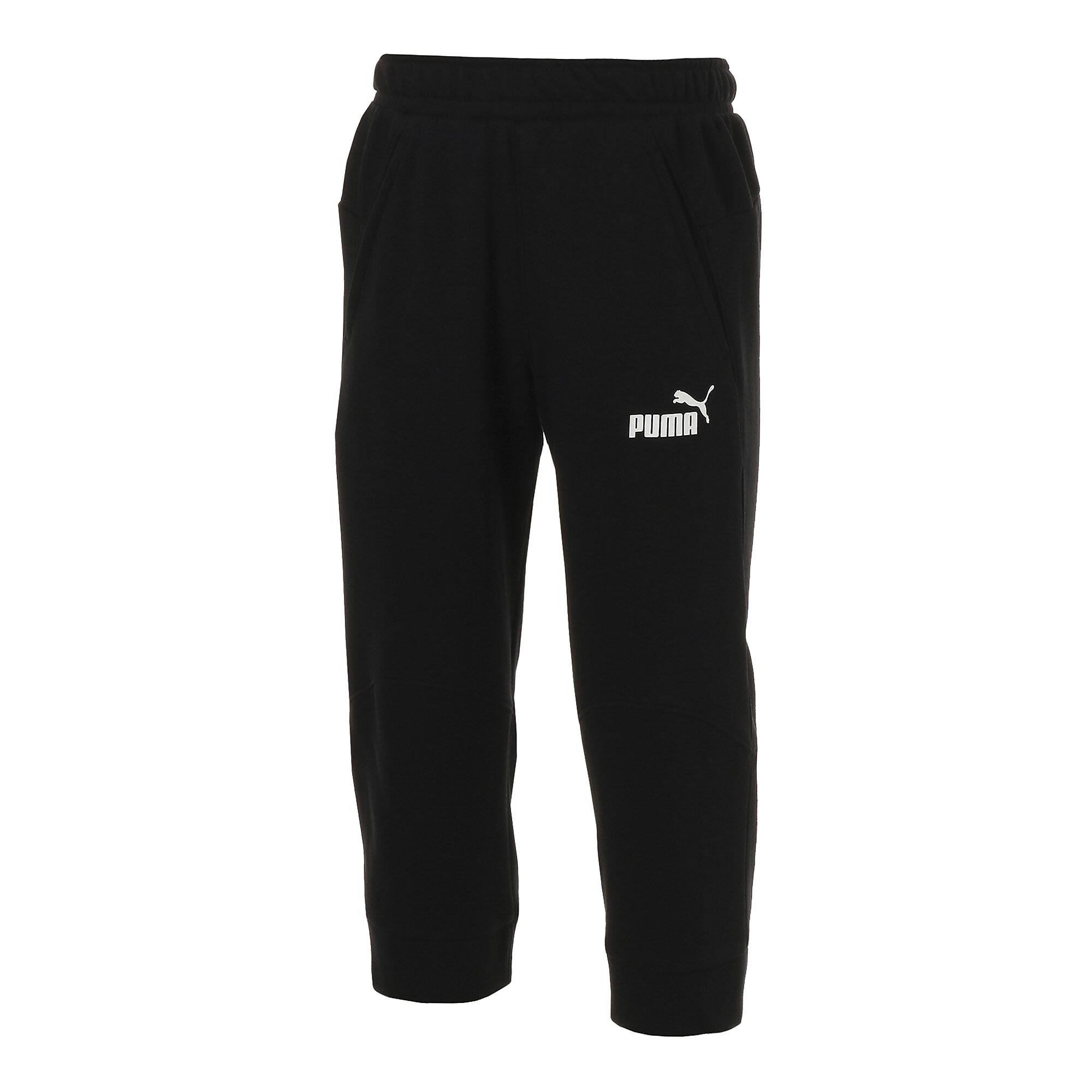 【プーマ公式通販】 プーマ ESS+ 3/4 スウェットパンツ メンズ Cotton Black |PUMA.com