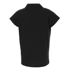 Thumbnail 2 of ESS+ ウィメンズ オープンポロシャツ, Cotton Black Heather, medium-JPN