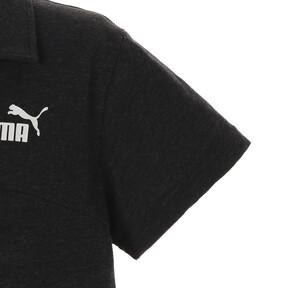 Thumbnail 4 of ESS+ ウィメンズ オープンポロシャツ, Cotton Black Heather, medium-JPN