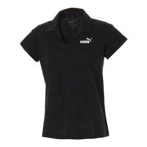 Thumbnail 1 of ESS+ ウィメンズ オープンポロシャツ, Cotton Black Heather, medium-JPN