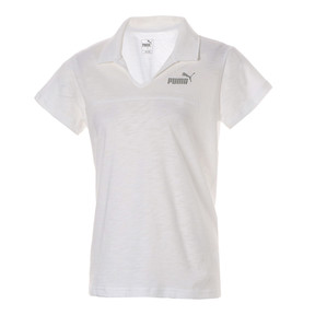 Thumbnail 1 of ESS+ ウィメンズ オープンポロシャツ 半袖, Puma White, medium-JPN